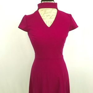 Neiman Marcus Tahara Plum Color Lined Dress sz 4
